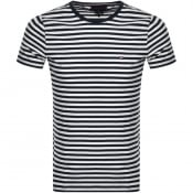 Product Image for Tommy Hilfiger Stretch Slim Fit Logo T Shirt Navy